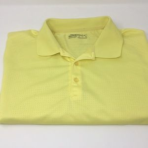 Nike Golf Fit Dry Mens XL Yellow Breathable Polo